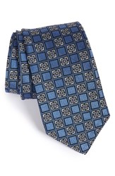 Men's J.Z. Richards Geometric Silk Tie Blue