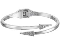 Rebecca Minkoff Pave Triangle Hinge Bracelet Imitation Rhodium With Crystal Bracelet Silver