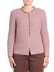 Stizzoli Plus Size Wool Blend Long Sleeve Jacket Pink Multi