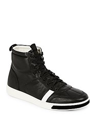 Rag And Bone Leather High Top Sneakers Black