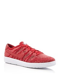 Nike Tennis Classic Ultra Flyknit Lace Up Sneakers Red