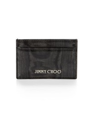 Jimmy Choo Dean Patent Marbled Card Holder Black