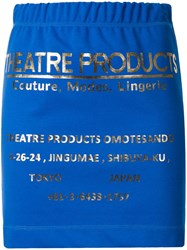 Theatre Products Metallic Lettering Fitted Skirt Blue