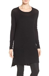 Halogenr Petite Women's Halogen Texture Stitch Knit Tunic Black