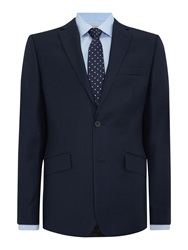 Howick Darby Birdseye Slim Fit Suit Jacket Navy