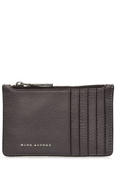 Marc Jacobs Perry Leather Wallet With Card Slots Grey