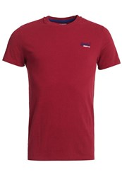 Superdry Vintage Embroidery T Shirt Red Marl
