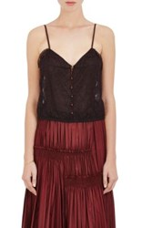 Nina Ricci Women's Lace Crop Camisole Brown