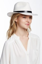 Phenix Short Brim Wool Fedora White