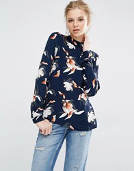 Y.A.S Magnolia Long Sleeve Blouse Magnolia Multi