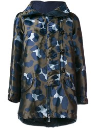Moncler Camouflage Parka Jacket Multi Coloured Green Blue