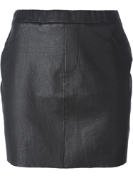 Zadig And Voltaire Leather Mini Skirt