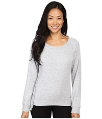 Ugg Morgan Pullover Seal Heather Women's Long Sleeve Pullover White