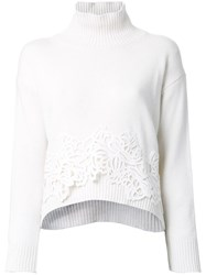 Ermanno Scervino Turtle Neck Jumper White