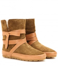 Isabel Marant Nygel Suede Boots Green