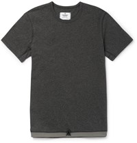 Reigning Champ Slim Fit Drawstring Hem Cotton T Shirt Gray