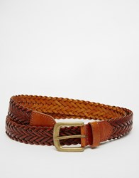 New Look Woven Belt Brown