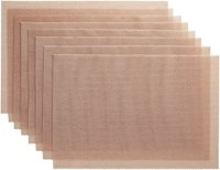 Cb2 Set Of 8 Net Pink Placemats