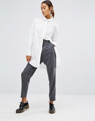 Monki Peg Trouser Grey Melange