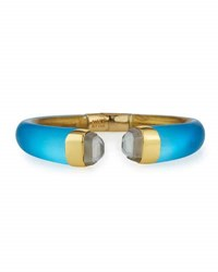 Alexis Bittar Mirrored Crystal Break Hinge Bracelet Azure