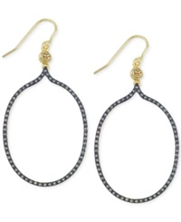 Sis By Simone I Smith Sis By Simone I. Smith Crystal Open Oval Drop Earrings In 18K Gold Over Sterling Silver Yellow Gold