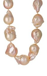 Linda Lee Johnson Women's Baroque Freshwater Pearl Necklace Colorless