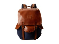 Will Leather Goods Lennon Backpack Navy Tan Backpack Bags Blue