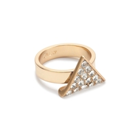 J.Crew Crystal Triangle Ring