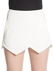 Saks Fifth Avenue Red Asymmetrical Front Skort Ivory