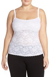 Plus Size Women's Cosabella 'Never Say Never' Lace Front Camisole White