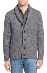 Schott Nyc Men's Shawl Collar Wool Blend Cardigan