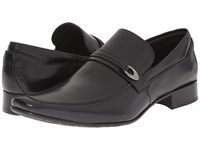 Massimo Matteo Mocc With Buckle Strap Black Men's Slip On Dress Shoes
