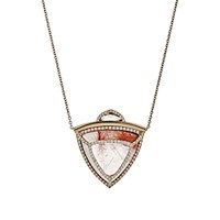 Monique Pean Women's Amphibole Quartz Pendant Necklace No Color