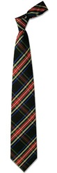 Forzieri Plaid Silk Tie Black