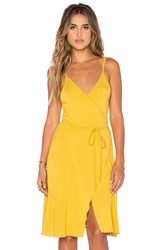 Somedays Lovin Blissful Wrap Dress Yellow