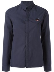 Kenzo 'Tiger' Chest Patch Shirt Blue