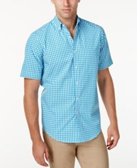 Club Room Men's Check Short Sleeve Shirt Only At Macy's Blue