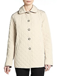 Jane Post Quilted Button Front Jacket Stone
