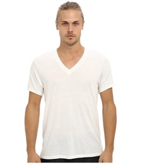 Alternative Apparel Boss V Neck Tee Eco Ivory Men's Short Sleeve Pullover White