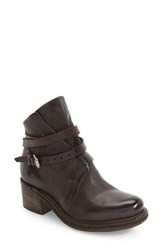 A.S.98 Women's Norman Buckle Strap Boot Smoke