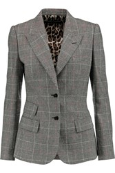 Dolce And Gabbana Tweed Blazer Gray