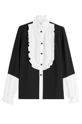 Anna Sui Blouse With Ruffled Bib Black