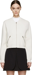 Acne Studios Clay Grey Cropped Zip Up Olympia Cardigan