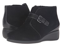 Trotters Mindy Black Cow Suede Leather Women's Boots
