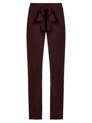 Pepper And Mayne Cashmere Lounge Pants Burgundy
