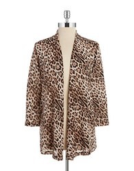 Nipon Boutique Animal Print Cardigan Saffron Multi