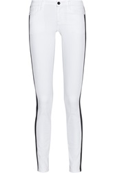 Alice Olivia Two Tone Mid Rise Skinny Jeans