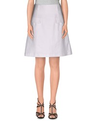 Annarita N. Skirts Knee Length Skirts Women White
