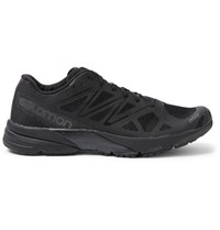 Salomon S Lab Sonic Mesh And Rubber Sneakers Black