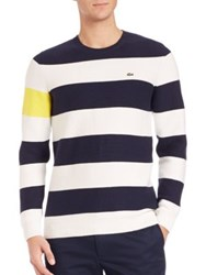 Lacoste Nautical Thick Stripe Sweater Navy